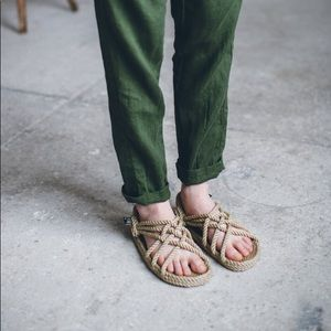 Rope Sandals Size 7-7.5